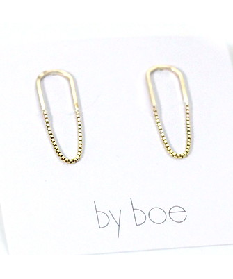 by boe チェーンフープピアス